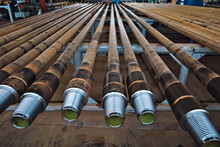 Pumped Compressor Pipes For Oil Well. Oil And Gas Equipment.