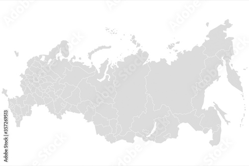 Fotografering Russia map illustration. Map of Russia in gray on white backgrou