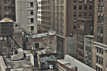 Urban Rooftop And Buildings