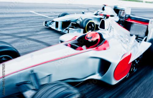Carta da parati Race cars driving on track