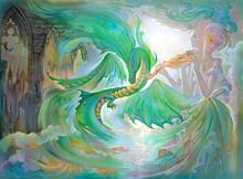 Nocturne For Dragon. Oil Paint...