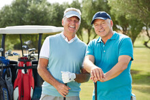 Senior Men On Golf Course