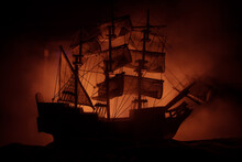 Black Silhouette Of The Pirate...