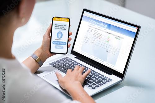 Fototapeta Online Banking Business App obraz
