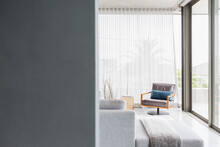 Chair In Corner Of Modern Living Room