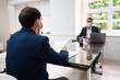 Leinwandbild Motiv Job Interview Business Meeting At Law Office