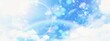 Leinwanddruck Bild - 幻想的な空の3dイラスト