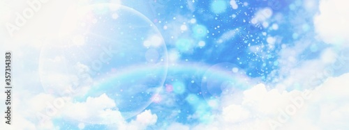 Obraz 幻想的な空の3dイラスト - fototapety do salonu