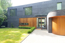 Modern Home Exterior With Bric...