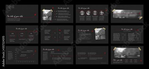 Fototapeta Dark Presentation Element Templates