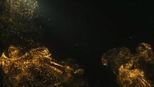 Gold Smoked Soft Movement Glitter Light Effect For Creative Golden On Black