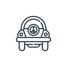 Beetle Vector Icon. Beetle Editable Stroke. Beetle Linear Symbol For Use On Web And Mobile Apps, Logo, Print Media. Thin Line Illustration. Vector Isolated Outline Drawing.