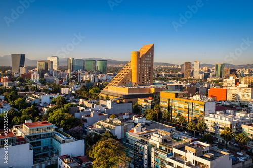 Carta da parati Panoramic View of sunrise in Polanco, Mexico City