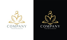 Illustration Of Female Logo An...