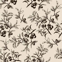 Seamless Floral Pattern With S...