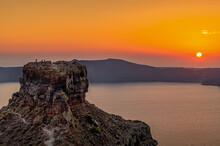 View At The Rock Skaros Of San...