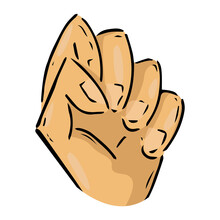 Fist Hand Icon. Vector Illustr...