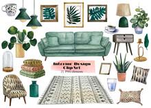 Set Of Interior Design Element...
