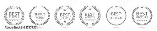 Fotografía Best movie badge set