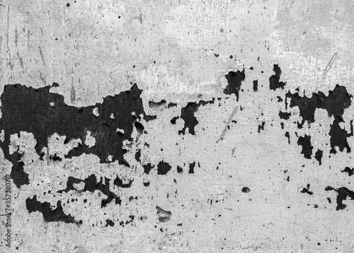 Monochrome of abrasive black on gray concrete wall texture. Canvas Print