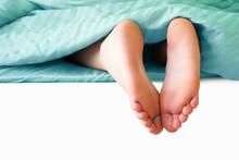 Sleeping Child, Heels Sticking...