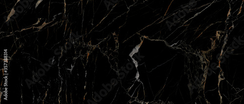 Fotografie, Tablou Black marble texture background with high resolution Italian slab marble stone t