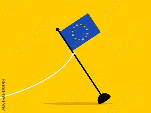 Photo Flag of European Union is removed