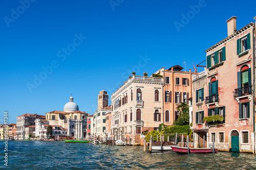 Obraz Historische Gebäude am Canal Grande in Venedig, Italien - fototapety do salonu