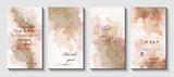 Modern creative design,  background marble texture. Wedding invitation.  Alcohol ink. Vector illustration.