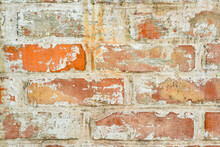 Texture Of Old Brick With Whit...