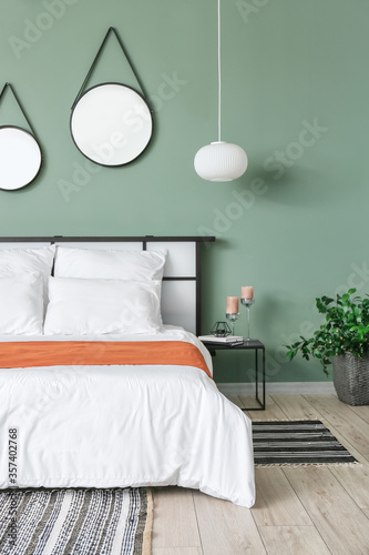 Fotografie, Obraz Stylish interior of modern bedroom