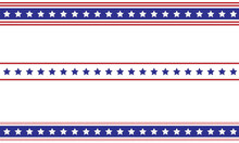 Patriotic Border Divider American Usa Flag.
