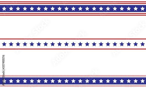 Obraz Patriotic border divider american usa flag. - fototapety do salonu