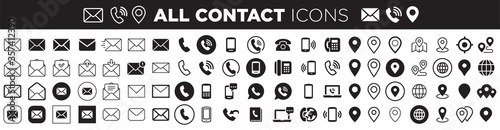 Fototapeta contact icons obraz