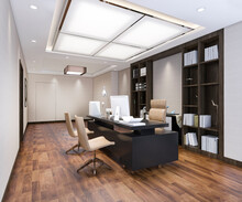 3d Rendering Luxury Business M...