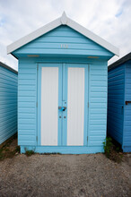 Blue Beach Hut Painted Sidings