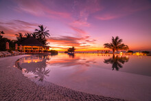 Beautiful Poolside And Sunset ...