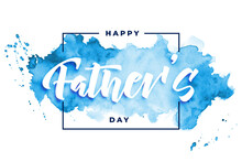 Happy Fathers Day Watercolor C...