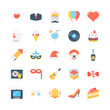 Party and Celebrations Flat Icons