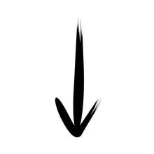 Bold Below Arrow Brush Style H...