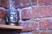 Figurine On A Shelf, Yoga, Buddha, Decor