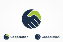 Handshake Logo. Two Hands Make...