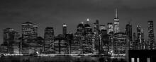New York City Skyline Black An...