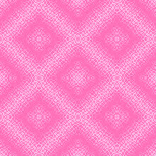 Seamless Halftone Background, Pink Fabric Print With Halftone Effect, Abstract Seamless Geometric Background