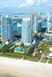 Aerial view of Miami Beach in Florida, United States