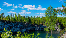 Nature Of Karelia. Pines And F...
