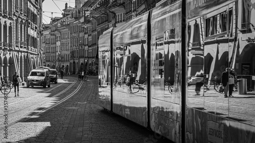 Tramway in Berne Canvas Print