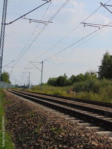 Obraz na plátně Tory kolejowe trasa