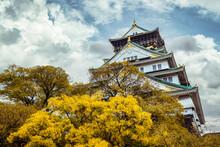Osaka Castle In Autumn, Japan