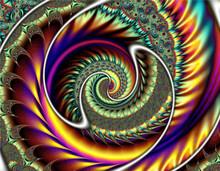 Abstract Meditative Color Frac...